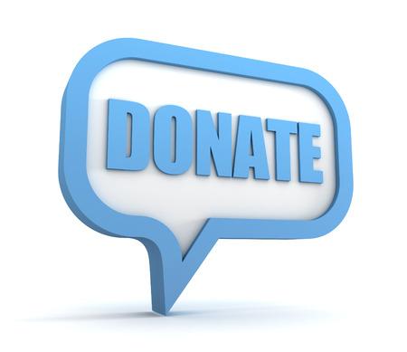 donate 3d illustration isolated on white background