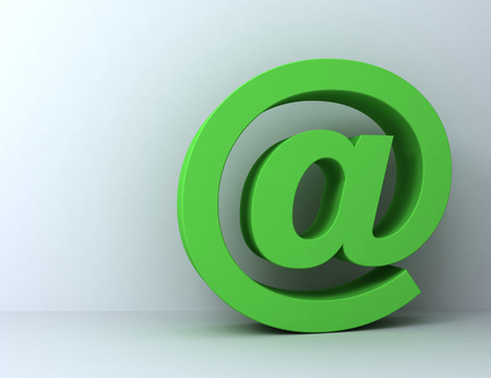 e mail 3d illustration isolated on white background