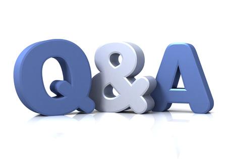 q en een geïsoleerd op een witte achtergrond 3D-afbeelding