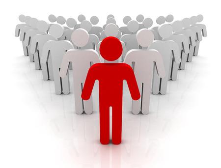 team leader illustration isolated on white background