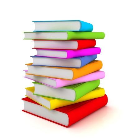books 3d illustration isolated on white background Stock Photo