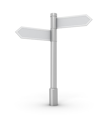 blank signpost 3d illustration isolated on white background