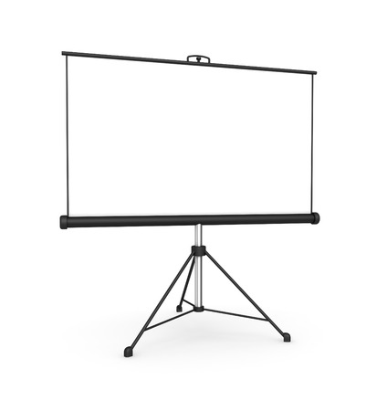 screen: projection screen 3d illustration isolated on white background Stock Photo