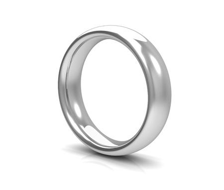 bodas de plata: anillos de bodas de plata 3d aislado en el fondo blanco