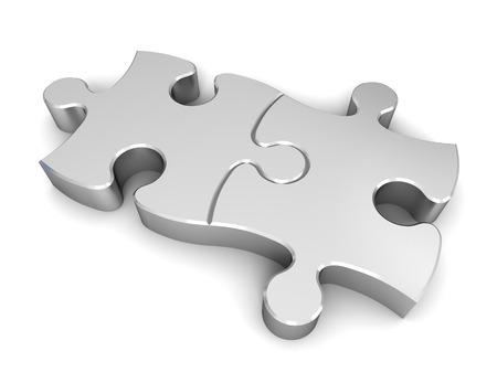 puzzle 3d illustration isolated on white background