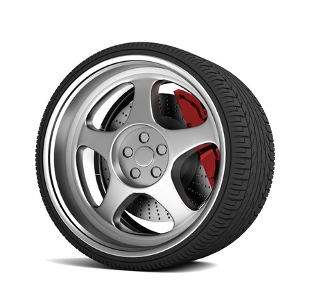 car tire: car tire 3d 3d illustration isolated on white background
