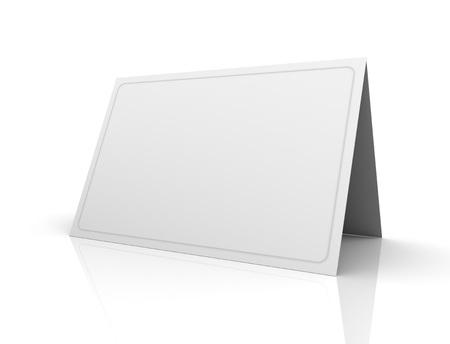 lege wenskaart 3D-afbeelding op een witte achtergrond