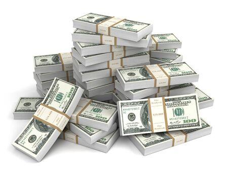 stack of dollar bill: money bills 3d illustration Stock Photo