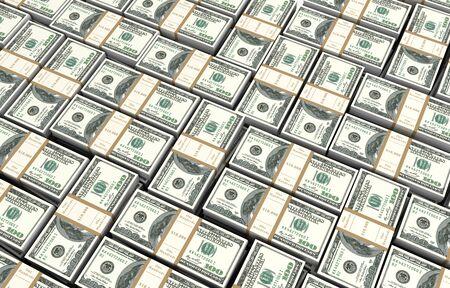money bills 3d illustration Stock Photo