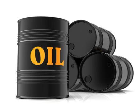 oil barrels 3d illustration Stock Photo