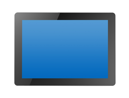 touchpad: tablet computer 3d illustration