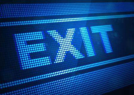exit digital screen 3d illustration