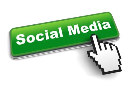 social media concept 3d illustration isolated