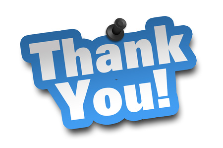 thank you concept 3d illustration isolated Standard-Bild - 101330755