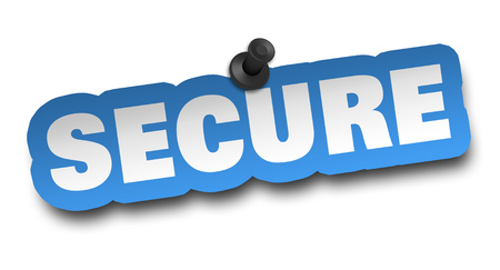 secure concept 3d illustration isolated Stok Fotoğraf