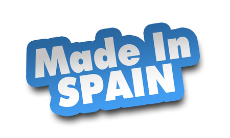 made in spain concept 3d illustration isolated 写真素材