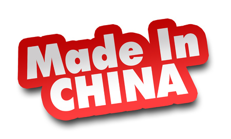 made in china concept 3d illustration isolated