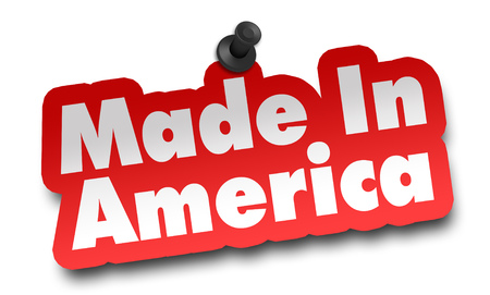 made in america concept 3d illustration isolated