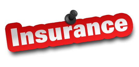 insurance concept 3d illustration isolated Stock Photo