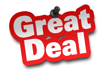 great deal concept 3d illustration isolated