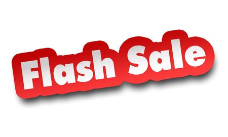 flash sale concept 3d illustration isolated Stockfoto