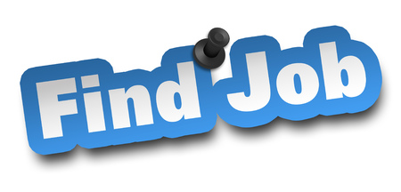 find job concept 3d illustration isolated 写真素材