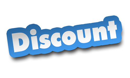 discount concept 3d illustration isolated