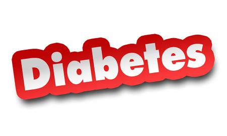 diabetes concept 3d illustration isolated Stock fotó