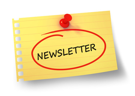 newsletter concept 3d illustration isolated 스톡 콘텐츠