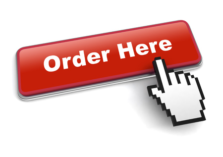 order here concept 3d illustration isolated on white background Stock Photo