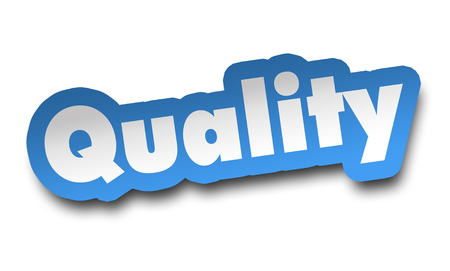 quality concept 3d illustration isolated on white background Archivio Fotografico - 102149514