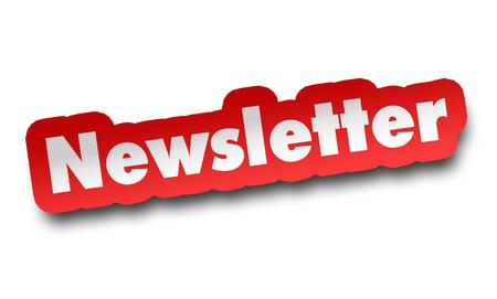 newsletter concept 3d illustration isolated on white background 版權商用圖片