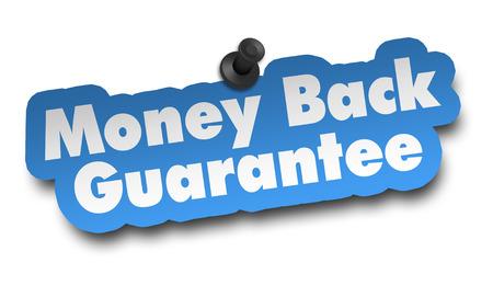 money back concept 3d illustration isolated on white background Archivio Fotografico - 102149584