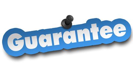 guarantee concept 3d illustration isolated on white background Archivio Fotografico - 102149651