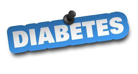 diabetes concept 3d illustration isolated on white background Stock Photo