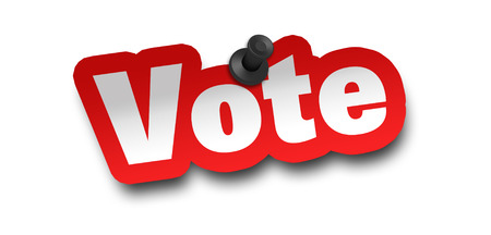 vote concept 3d illustration isolated on white background