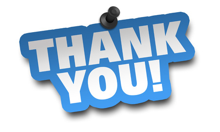 thank you concept 3d illustration isolated on white background