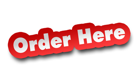 order here concept 3d illustration isolated on white background Stockfoto