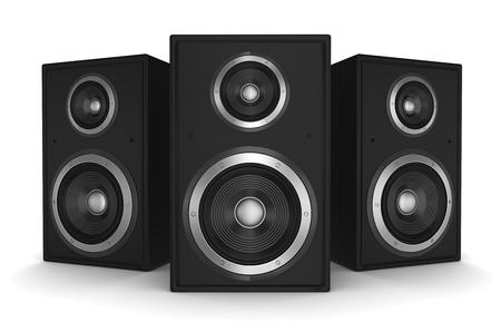 speaker concept 3d illustration isolated on white background