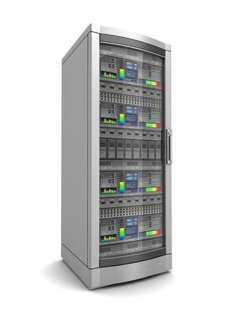 network workstation server 3d illustration isolated on white background