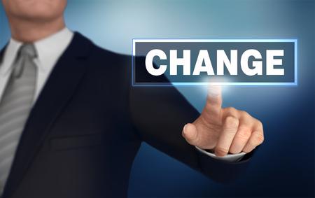 change   pushing concept 3d illustration Banco de Imagens