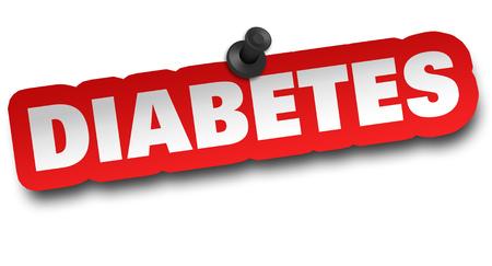 diabetes concept 3d illustration isolated Banco de Imagens