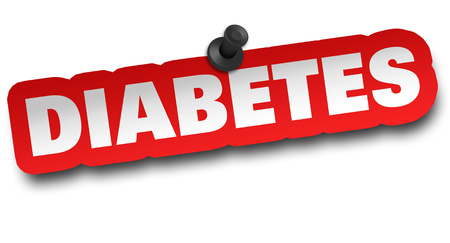 diabetes concept 3d illustration isolated Stock Photo