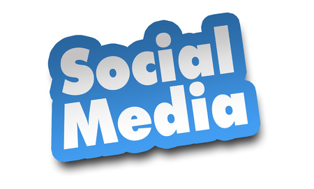 social media concept 3d illustration isolated
