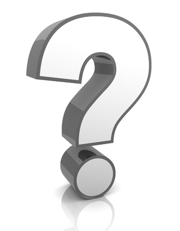 question mark 3d illustration isolated Stock fotó