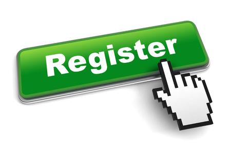 register concept 3d illustration isolated Banco de Imagens