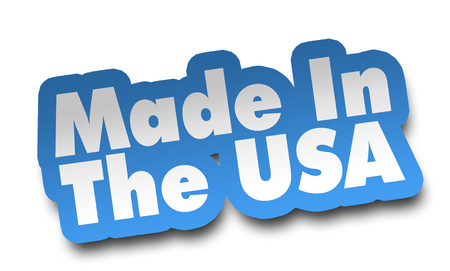 made in usa concept 3d illustration isolated