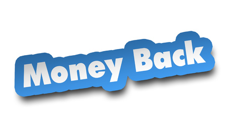 money back concept 3d illustration isolated