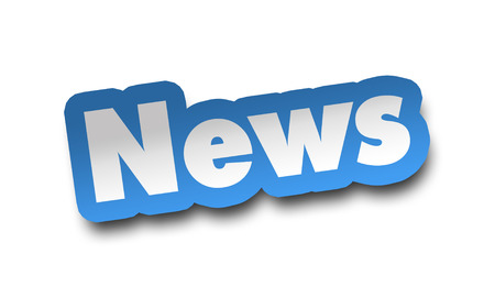 news concept 3d illustration isolated