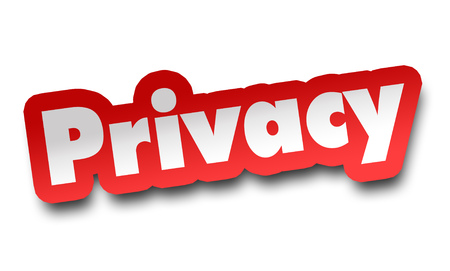 privacy concept 3d illustration isolated